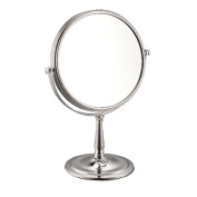 Nameeks Nameeks AR7725 Glimmer Double Sided 3x Magnification Makeup Mirror, Chrome/Satin Nickel