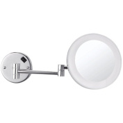 Nameeks Nameeks AR7706 Glimmer Round Wall Mounted 3x Magnification Makeup Mirror with LED, Chrome