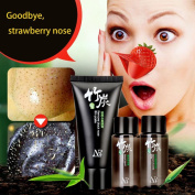 Blackhead Remover ! AMA(TM) Deep Cleansing Purifying Peel Off Acne Black Mud Face Facial Mask Remove Blackhead Set, Farewell Strawberry Nose