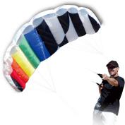 Hengda Kite 1.4 M Intro Foil design Rainbow Kites Soft Stunt Sport Parafoil Kite 140cm with Flying Tool Set