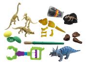 Dinosaur Dig #2 - Excavation Sensory Bin Toy - Dino skeleton, fossil Game, digging for dinosaur bones