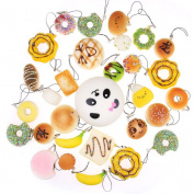 NUOLUX 12PCS Jumbo Mini Squishy Bread Scented Panda Toast Donuts Cone Humburger Turtle ( Random Style