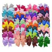 LCLHB 40PCS Boutique Barrette Hair Bows For Teens Babies Girls