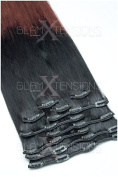 Meralens 50 cm Length Ombre Clip-in Extensions XXL Hair Extension Heat-Resisting Like Real Human Hair Set Available in Various Colours