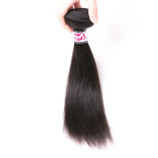 Silkylong Brazilian Hair Weave Bundle Straight Weave Unprocessed Human Virgin Hair Natural Colour 30cm