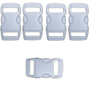 Craft County 3/8 Buckles - Contoured, Curved, Side Release, Plastic Buckles - Great for Crafting, Art Projects and More!