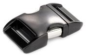 5 - 1.6cm Black Aluminium Side Release Buckles