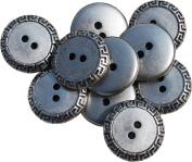 RaanPahMuang Classic Renaissance Mediaeval Re-Enactment Loop Buttons 22mm - 20pcs, Silver