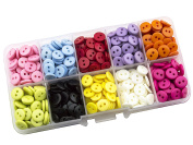 Summer-Ray 750pcs Assorted Colour 9mm 2-eyed Buttons In Storage Box