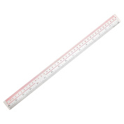 BleuMoo 40cm 16 Inches Length Measure Clear Plastic Straight Edge Ruler