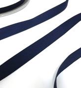 Anrox Supply Co 1.6cm Navy Blue Royal Herringbone Twill Tape 50 Yard Spool