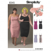 Simplicity Pattern 8345 G5 Plus Size Dress, Top and Skirt by Ashley Nell Tipton, Size 26W-34W
