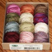Valdani 3-strand cotton floss - Summer Quakers - Rosewood Manor