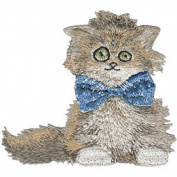 Scruffy Cat - Animal Club - Iron on or Sew on Embroidered Patch