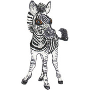 Zebra - Animal Club - Iron on or Sew on Embroidered Patch