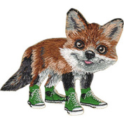 Fox - Animal Club - Iron on or Sew on Embroidered Patch