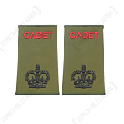 British Army Olive Green Cadet Rank Slides - CSM