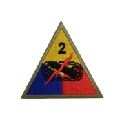 Reproduction WW2 US 2nd. Armoured Division (Hell on Wheels) Patch
