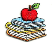DKAORU School - Books - Teacher - Apple - Student - Embroidered Iron On Applique Patch Happy crafting