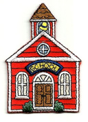 DKAORU School - School House - Teacher - Embroidered Iron On Applique Patch Happy crafting