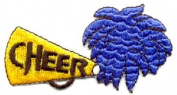 DKAORU Cheerleader - Cheer - Embroidered Iron On Applique Patch Happy crafting
