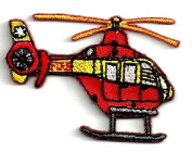 DKAORU Fire/Rescue Helicopter Twill/Embroidered (SmallVersion) Iron On Applique Patch Happy crafting
