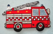 DKAORU Fire Truck/Engine Embroidered Iron On Patch Happy crafting