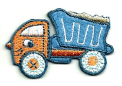 DKAORU Truck - Dump Truck - Embroidered Iron On Applique Patch Happy crafting