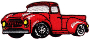 DKAORU Truck - Red Pick Up Truck - Mechanic - Embroidered Iron On Patch Happy crafting