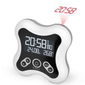 Oregon Scientific RM331P Funky Radio-Controlled Projection Clock with Indoor Temperature