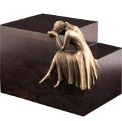 """Urns UK """"Beaminster Weeping Angel"""" Cremation Urn, Bronze"""