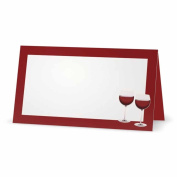 Wine Place Cards - TENT STYLE - 10 PACK - White Blank Front Solid Colour Border - Placement Table Name Dinner Seating Stationery Party Supplies - Occasion Event Holiday