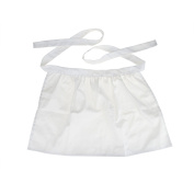 Aspire White Half Aprons, Cotton Kitchen Cafe Waitress Waist Apron Tea Party Maid Working Costume - White,M