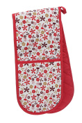 Premier Housewares Daisy Double Oven Glove - Red