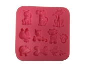 """'""""Funny Animals, Dogs, Cats, Birds, Fish Silicone Mould"""