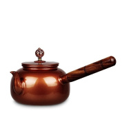 Pure Copper Urgent Need Of Pots To Create Hand-Made Tea Health Small Capacity With Solid Wood Long Handle 0.5L