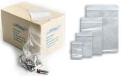 100 GL2 5.7cm x 7.6cm Grip Seal Bags Self Resealable Mini Grip Poly Plastic Clear Zip JeeJaan®