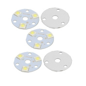 sourcingmap® 5Pcs 31x31mm 3W 3 LEDs 6868 High Power SMD Pure White LED Ceiling Light Board
