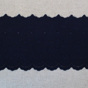 1yard Broderie Anglaise cotton eyelet lace trim 11.5cm YH1162