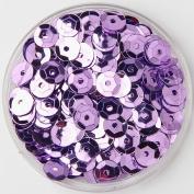 .   1000pcs 6mm Bright Bling Purple Sew on Applique Trim Cup Hologram PVC Loose Sequin Paillettes Sewing for DIY Wedding Dress Craft Garment Scrapbook Material