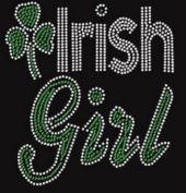 Irish Girl Rhinestone Iron on Transfer
