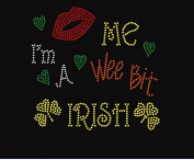 I'm Irish Rhinestone Iron on Transfer