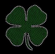 Irish 4 leaf Clover Rhinestone Iron on Transfer
