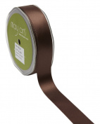 May Arts HA-78-33 Brown 2.2cm Double Face Satin,Brown,30 yd