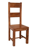 Vellar Living Indian Rosewood Dining Chair / Solid Sheesham Rosewood Dining Room Chair / Chunky Dining Room Furniture