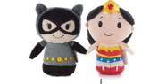 Hallmark DC Comics Itty Bitty set of 2 Cat Woman and Wonder Woman Soft Toy