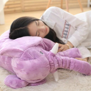 Aosbos Stuffed Elephant Plush Pillow Soft Cute Animal SleepToy for Baby Kids Infant Purple