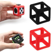FidgetKull Protective Cover Case for Pressure Relief Fidget Toy Dice Cube Prismatic Shell Black