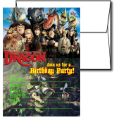 12 HOW TO TRAIN YOUR DRAGON Birthday Invitation Cards