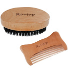 Rovtop Beard Brush and Comb for Men, Boar Bristles Beard Brush and 1 Comb for Hair and Beard Styling